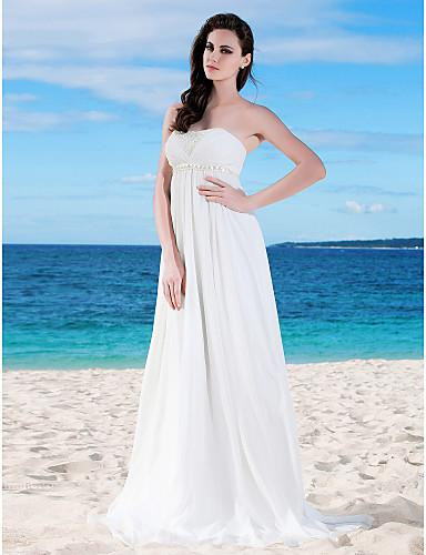 2015 white empire waist chiffon wedding dress strapless for Maternity wedding dresses under 100