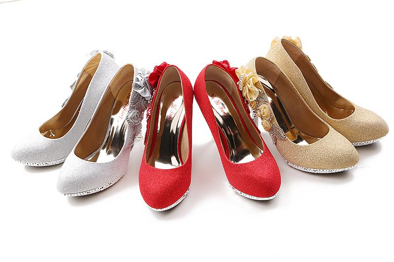 2015 new wedding shoes flats for high heel