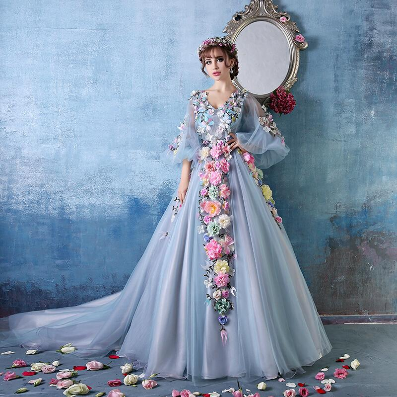 Long Sleeve Fairy Tale Wedding Dresses - Wedding Dresses In Jax