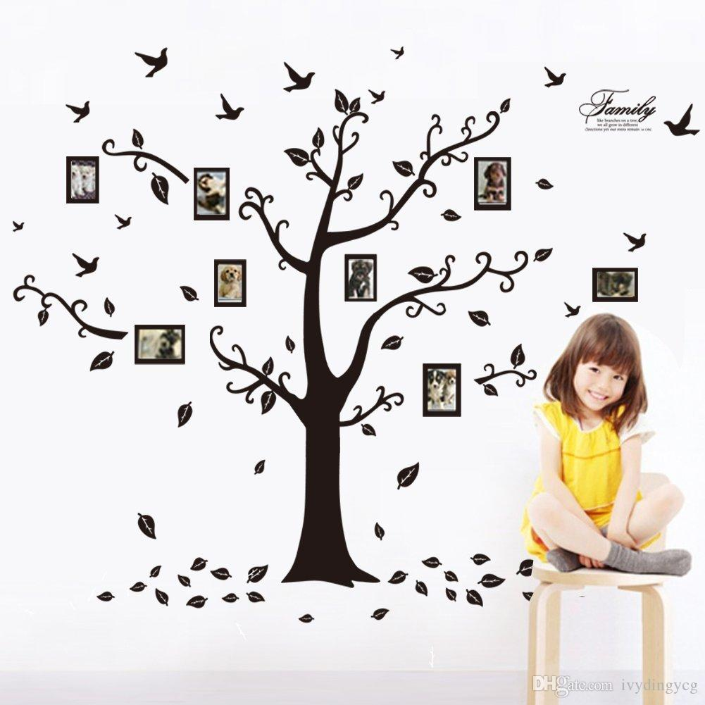 Design A Wall Sticker room photo frame decoration family tree wall decal sticker poster on a wall sticker tree wallpaper kids photoframe art 10pcslots wholesale high quality New Design Removable Wall Dcor Decorative Painting Supplies Wall Stickers Wall Decals Trees Photo Frame Butterfly