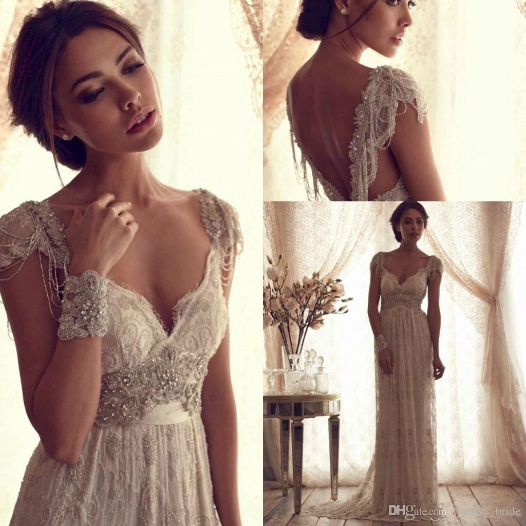 Discount 2015 y V Neck Backless Anna Campbell Lace A