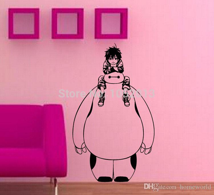 New Anime Cartoon Big Hero 6 Bayman Hiro Wall Sticker