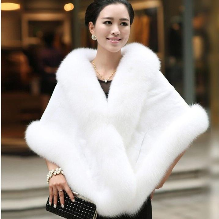 New Winter Women Thick Warm Faux Fur Coats Wraps Fashion Elegant ...