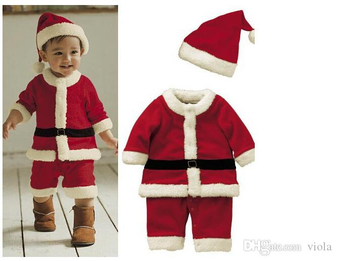 Best Santa Claus Costume Baby Christmas Clothing Sets High