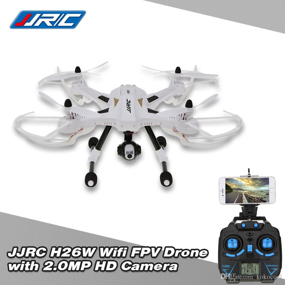 Original JJRC H26W 2.4G 4CH 6 Axis Gyro RC Wifi FPV Quadcopter Real-time Transmission Drone with 2.0MP HD Camera RM4671