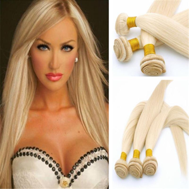 100 Human Hair 100g Pc 8 32 1b Russian Blonde Hair
