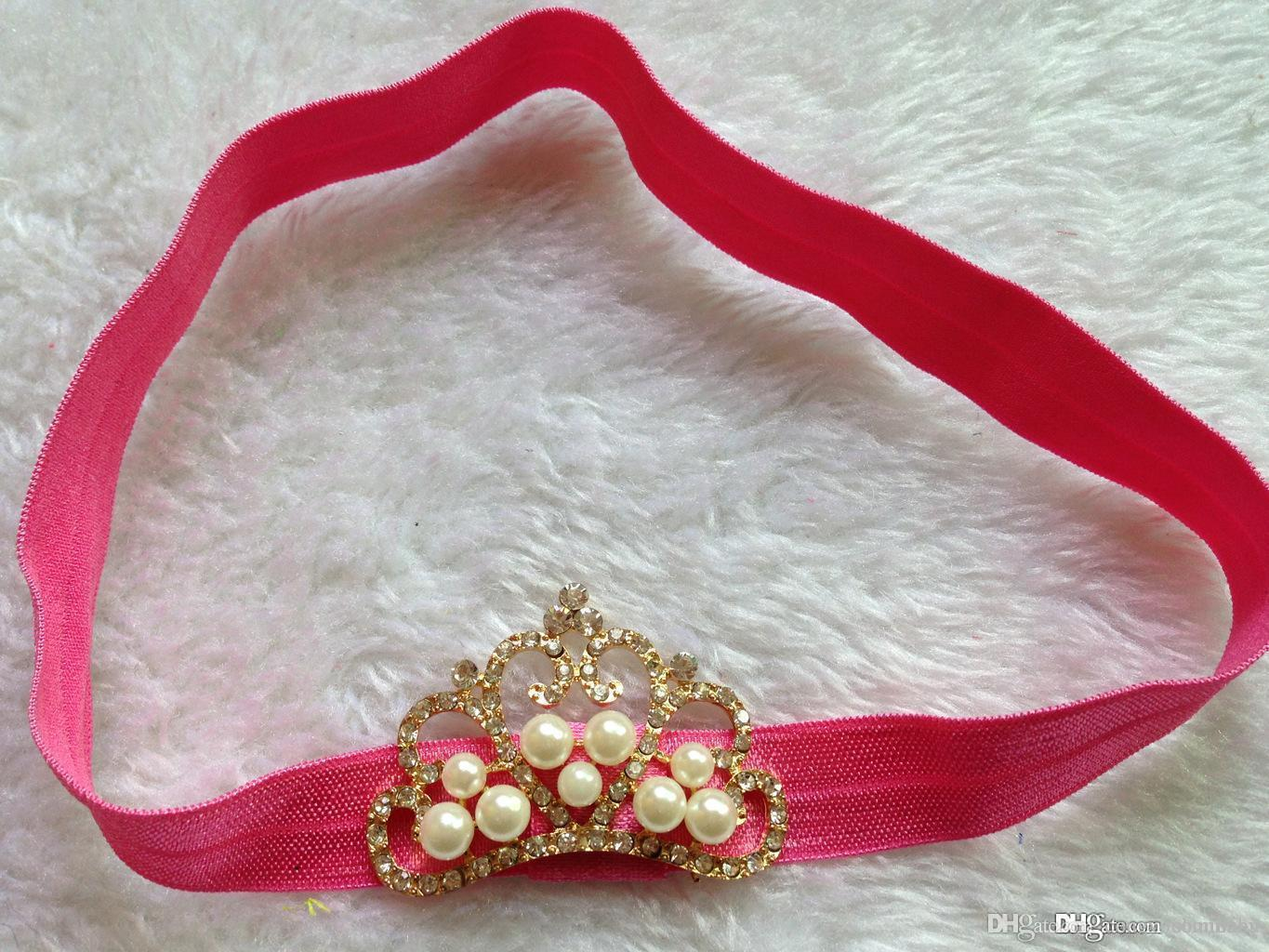 Be best hair accessories for baby - Best Selling Head Bands Jewerly Crown Baby Hair Bands With Elastic Hair Accessories Baby Prop Outfit