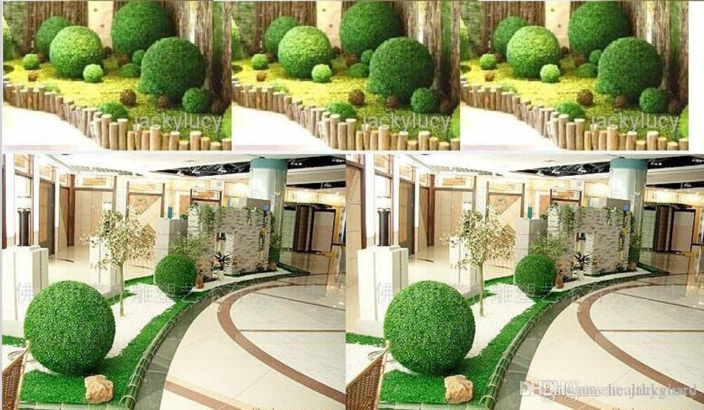 Discount inch cm diameter artificial green plastic