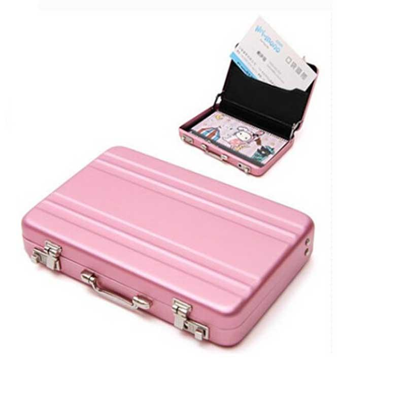 Newest business card case holder womens mens aluminum for Womens business card case