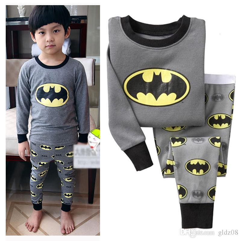 Hot Cartoon Batman Sleepwear Baby Kids Boys Girls Cotton Nightwear ...