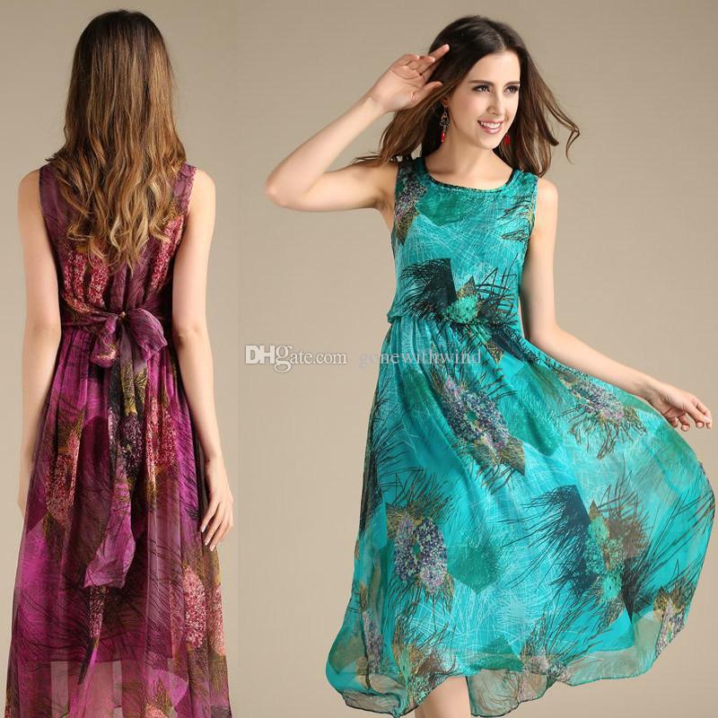 Turquoise Silk Prom Dress