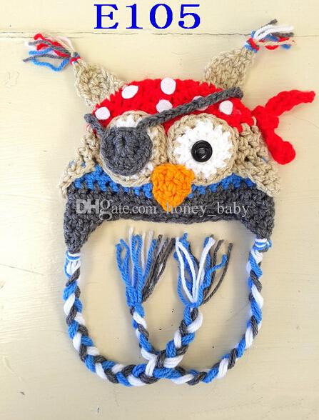 Free Crochet Pirate Owl Hat Pattern Traitoro For