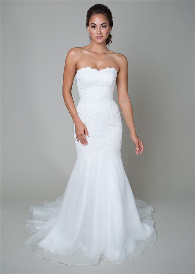 Vintage White Lace Mermaid Wedding Dresses 2016 Spring Designer ...