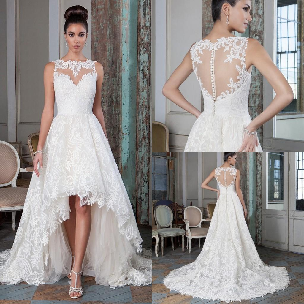 New Collection 2016 Lace Wedding Dresses A Line y Plus