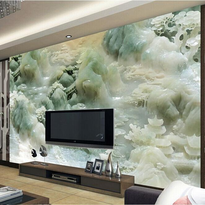 Cheap sale super 3d sense relief murals wallpaper new for Cheap mural wallpaper