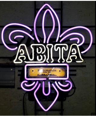 abita restoration pale ale nola purple neon sign handmade custom real glass tube home decoration art gift display neon signs 24x20 neon sign abita neon