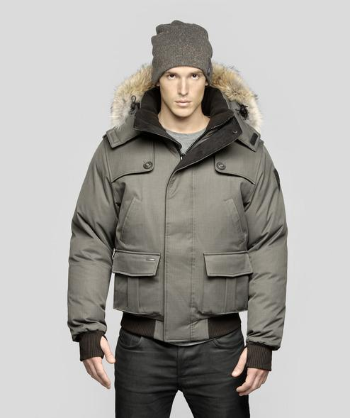 2015 Nobis Cartel Men Bomber Down Jacket Removable Hood Rib Cuffs ...