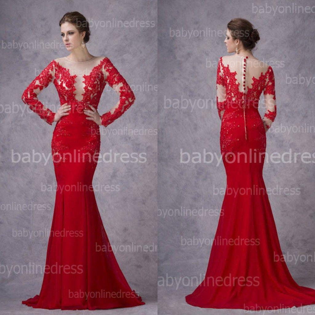 Mermaid red wedding dress fashion dresses for Red sexy wedding dresses