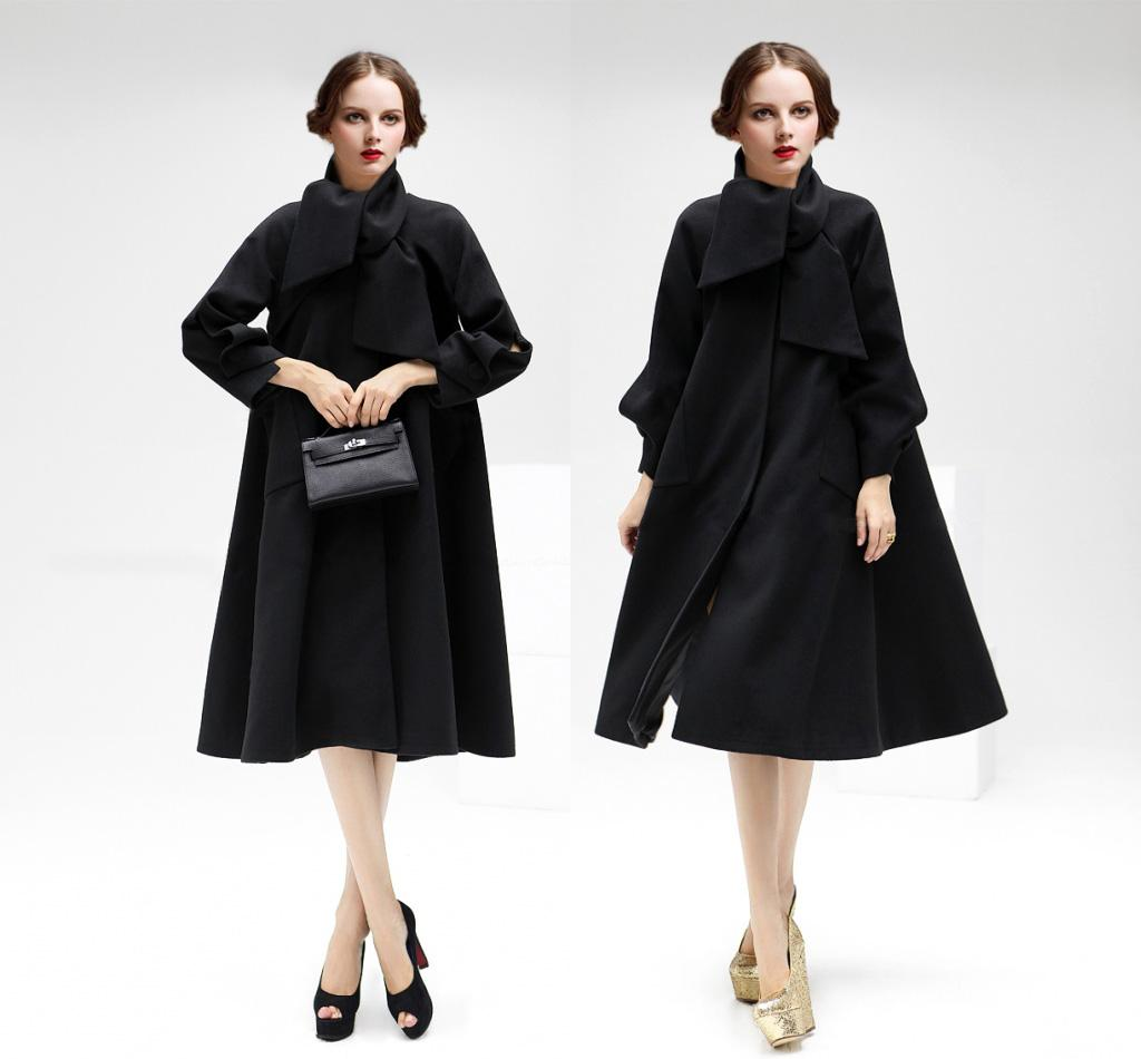 Christmas dress casual - New Street Style Fashion Casual Runway Dresses For Women Classic Elegant One Piece Outerwear Work Dress High Quality Christmas Black Red