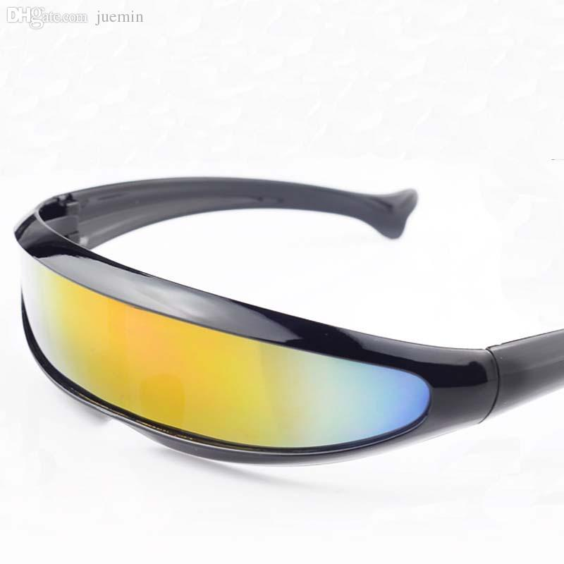 new stylish sunglasses  Wholesale Cool New Stylish Narrow Cyclops Color Mirrored Lens ...