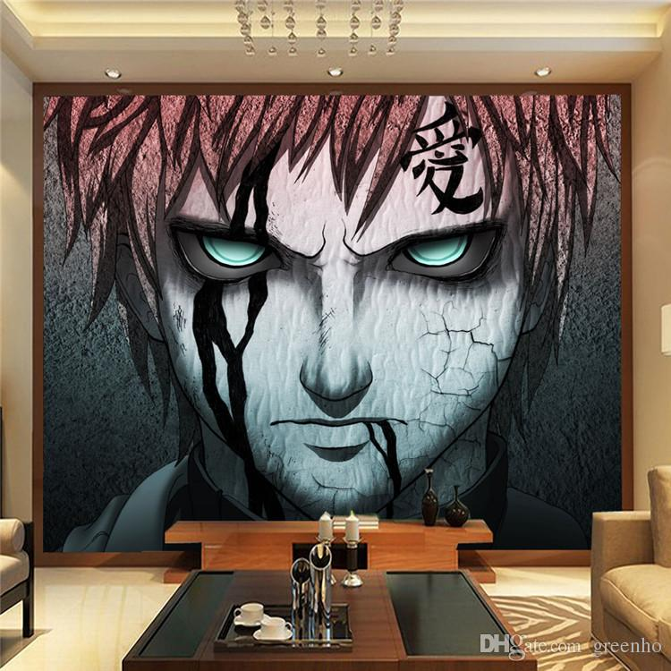 Japanese anime naruto photo wallpaper gaara wall mural for Decoration murale naruto