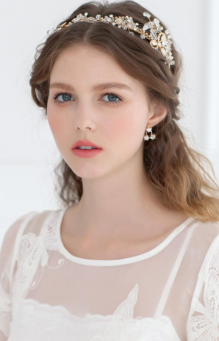 2015 gold wedding headpiece cheap hair accessories new
