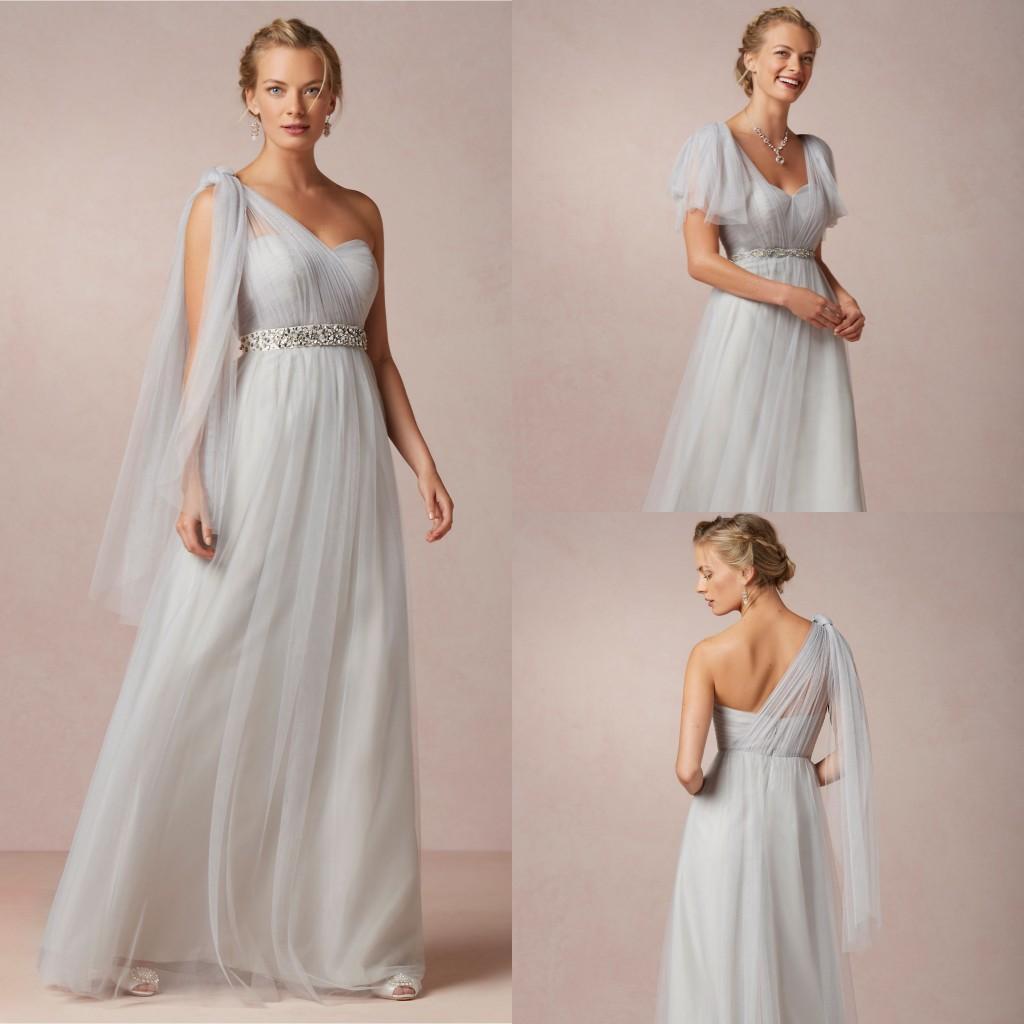 Bridesmaid dresses cheap 2017 bhldn silver a line for Cheap silver wedding dresses