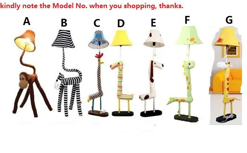 Discount Novelty Rustic Children Kids Child Bedroom Cartoon Animal Floor Lamps Lights Novelty Floor Lamps