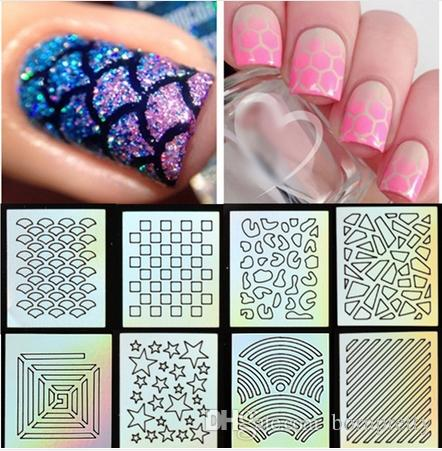 9 tips sheet nail vinyls print nail art stencil sticker holo nail art stickers nail laser vinyls. Black Bedroom Furniture Sets. Home Design Ideas