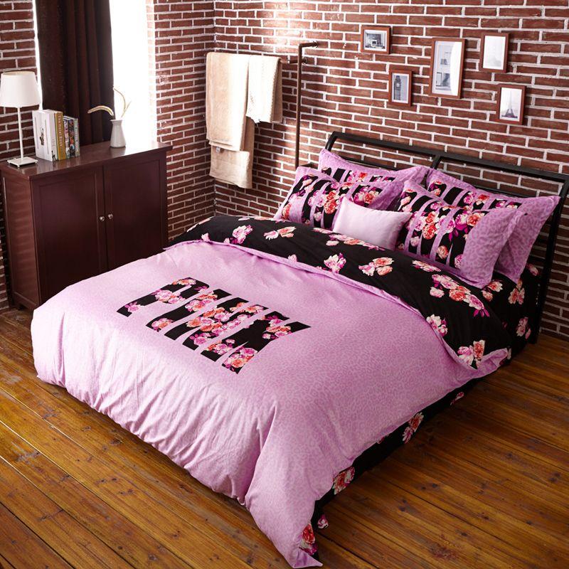 Image gallery love pink bedding - Pink cheetah bed set ...