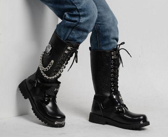Woman Winter Fashion Lace Up Punk Martin Boot Knee Boots