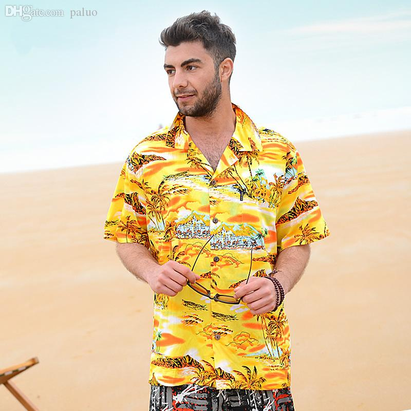 Wholesale-2016 Hot Beach Shirts Mens Summer High Quality Casual ...