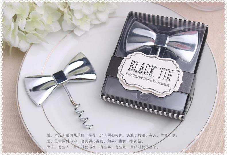 Wedding Gift And Giveaways Black Tie Wine Bottle Opener Creative Gifts ...