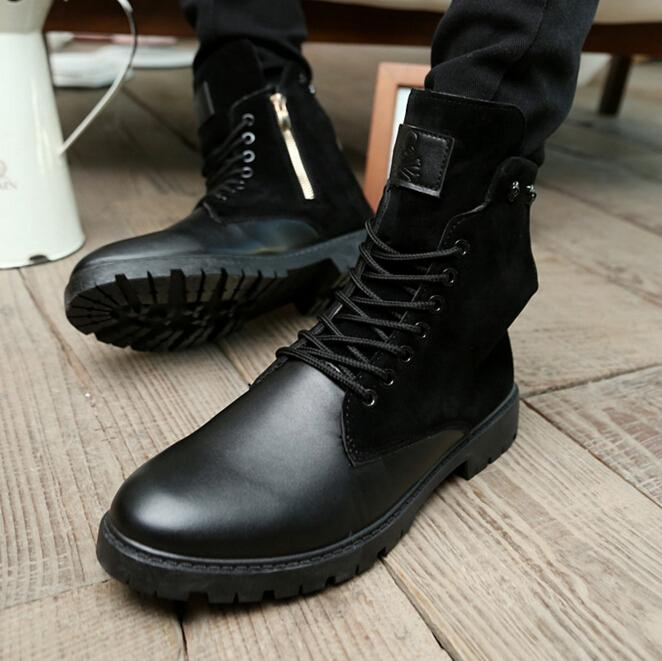 New Trend Men Fashion Boots Skull Heads Decoration Man Martin ...