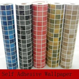 Modern PEEL  amp  STICK self adhesive mosaic wall paper waterproof vinyl wallpaper for kitchen bathroom. Modern Peel  amp  Stick Self Adhesive Mosaic Wall Paper Waterproof