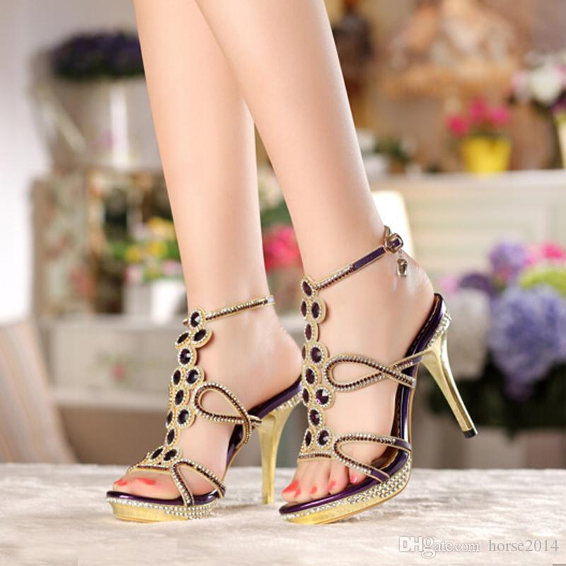 new model fashion prom high heel sandals