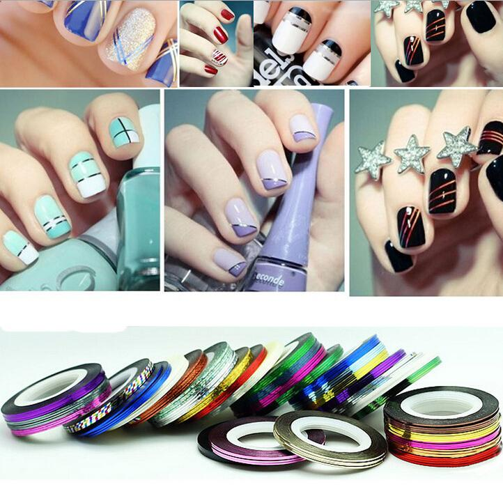 Striping Tape Line Nail Art: Rolls Striping Tape Line Nail Art Decoration Sticker Multi