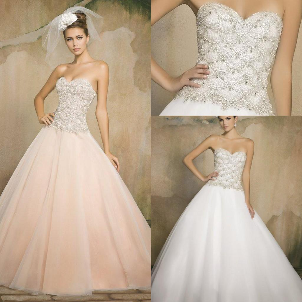 Bling blush crystal white pink ivory wedding dresses a for Bling plus size wedding dresses