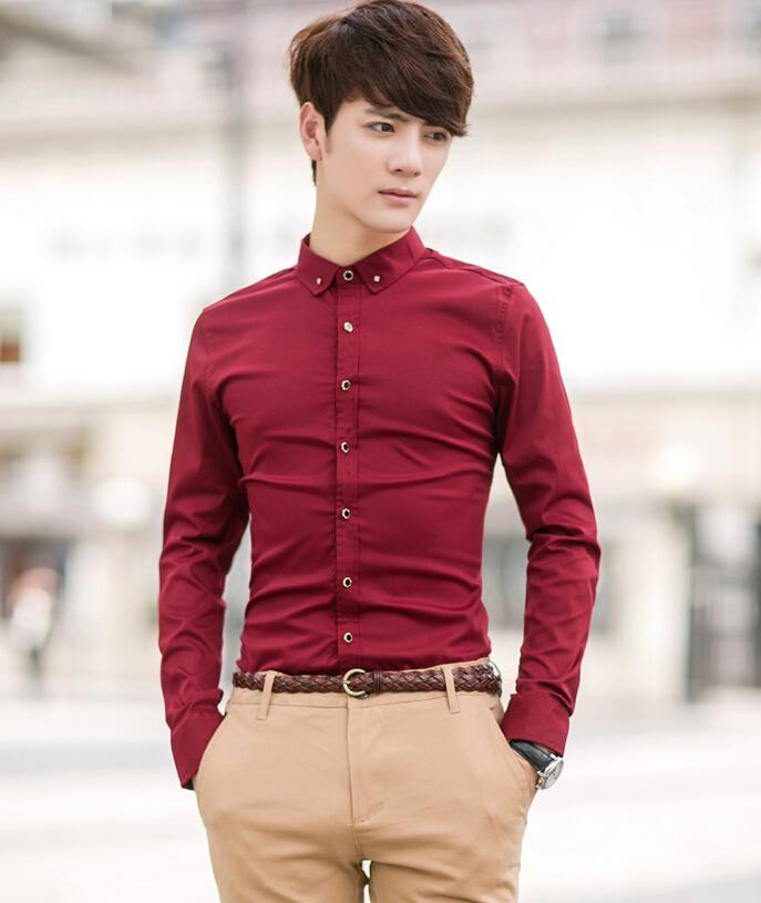 Handsome the Groom Shirt Red Man Wedding Shirts Formal Occasions ...