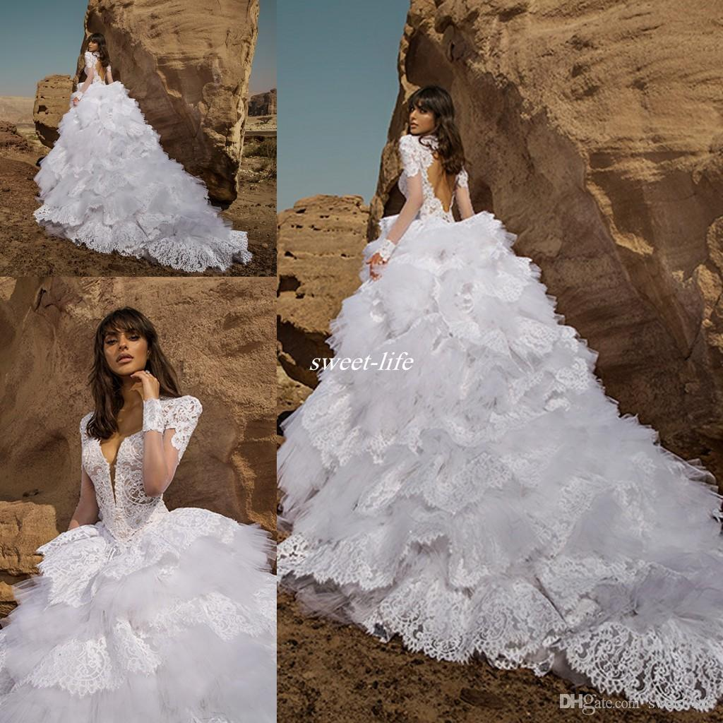 Pnina Tornai Ball Gown Wedding Dresses with Short Sleeves