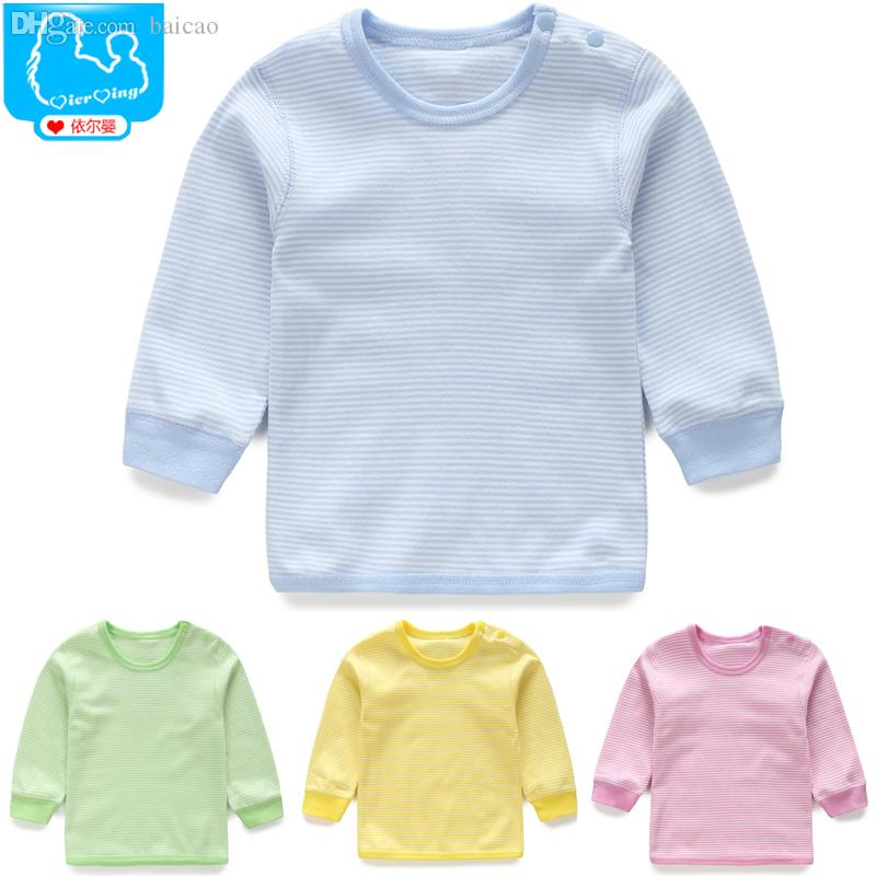 2017 wholesale baby clothes newborn boys girls underwear for Long sleep shirts cotton