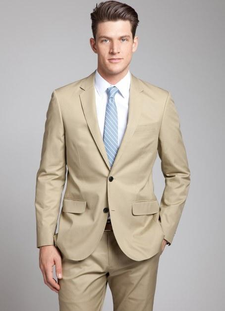 Discount Light Brown Linen Suit | 2017 Light Brown Linen Suit on