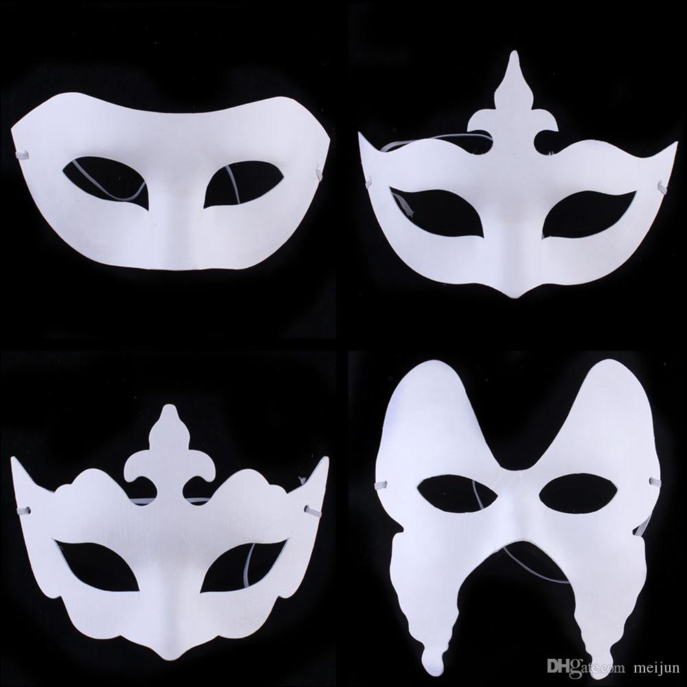Cheap DIY Painting White Paper Masks Venetian Party Masquerade ...