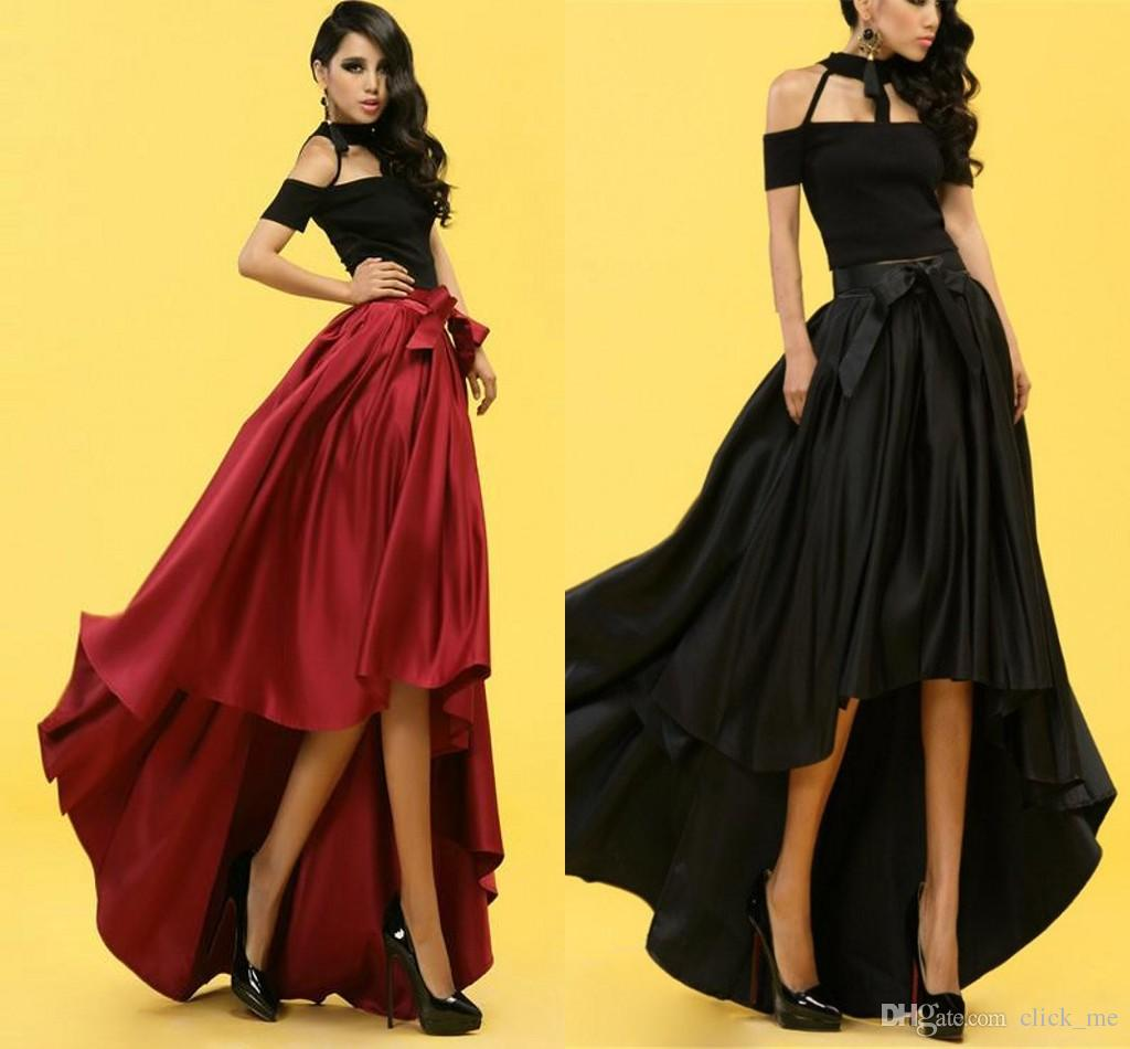 Fashion High Waist Skirts Party Tutu Long Skirt Dovetail Maxi ...