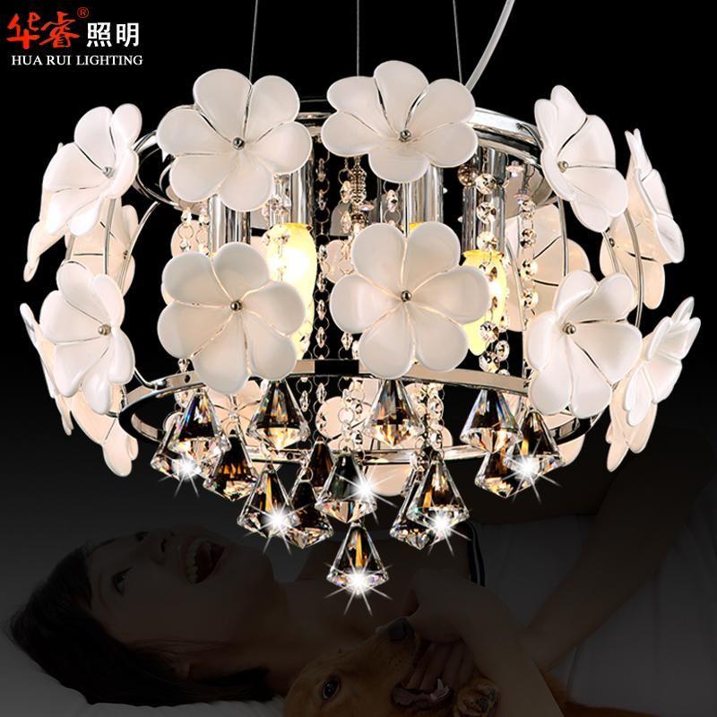 Hot Sale Handmade Glass Flower Chandelier Light Pendant Lamp Crystal Dining Room Lighting Fashion Hanging Lamps For Indoor