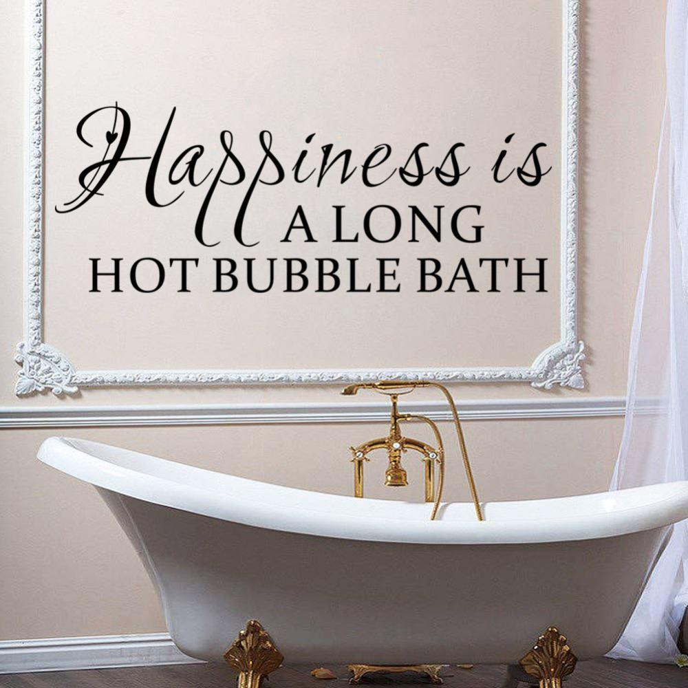 Vinyl wall sticker happiness is a long hot bubble bathroom wall vinyl wall sticker happiness is a long hot bubble bathroom wall decal home decor diy home living room bedroom decoration decorative wall paper art sticker amipublicfo Gallery