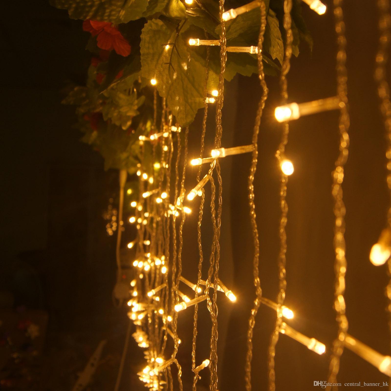 Christmas String Lights Indoor : Us Stock! Indoor/Outdoor Christmas Lights Lighting Led Icicles String Light 3.5m 110v Led Ice ...