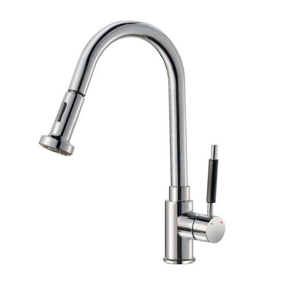 2017 modern chrome swivel spout pull out spray kitchen sink mixer tap good use from kings1018 8041 dhgatecom - Kitchen Sink Mixer Taps