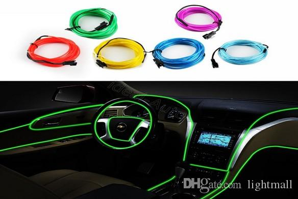 Vente au détail Bandes LED eau Gadget 6 couleurs Corde 3M Flexible Neon Light Gl