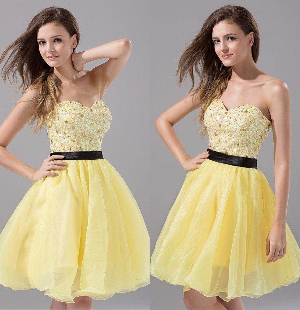 black yellow cocktail dress  eBay